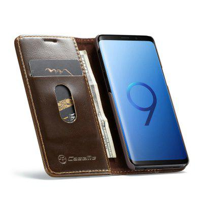 CaseMe 003 for Samsung Galaxy S9 Flip Leather Wallet Phone Case with Cards Slots