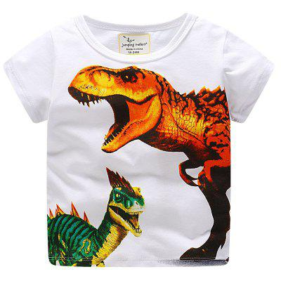 New Boy Dinosaur Pattern Impresso T-shirt de manga curta