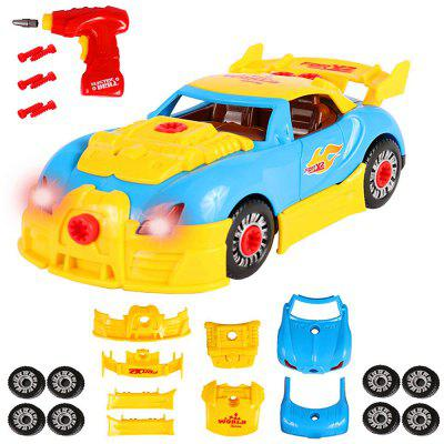 Take Apart Toy Racing Car Kit with Toy Power Drill (2 Versions)