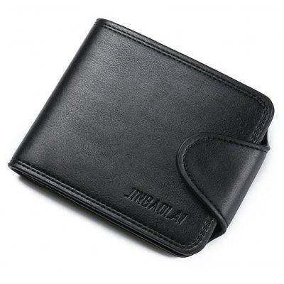 Men's Wallet Snap-Fastener Solid Color Stylish Trend Purse