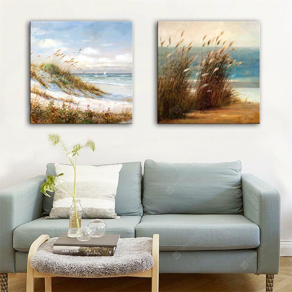 Special Design Frameless Paintings Reed Print 2PCS