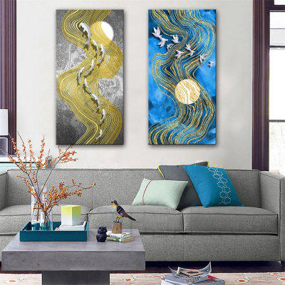Special Design Frameless Paintings Dove and Fish Print 2PCS