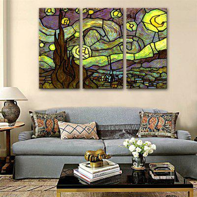Special Design Frameless Paintings Fairy Tale Town Print 3PCS