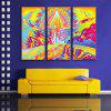 Special Design Frameless Paintings Meteorite Fall Print 3PCS - MULTI