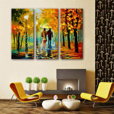 Special Design Frameless Paintings Walk After The Rain Print 3PCS