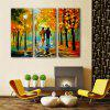 Special Design Frameless Paintings Walk After The Rain Print 3PCS - MULTI