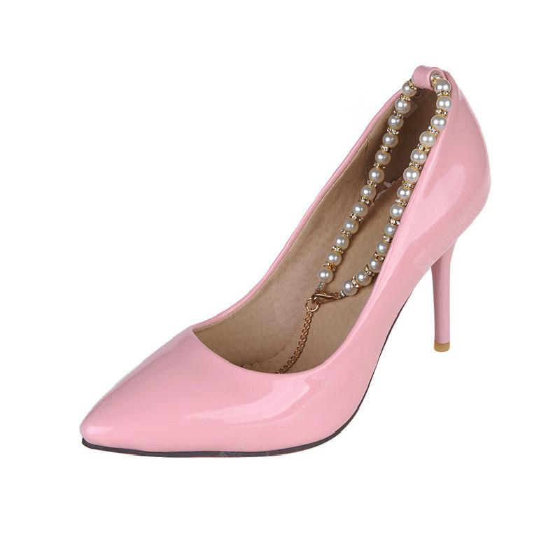 A Leisure Occupation Leather High-Heeled Shoes