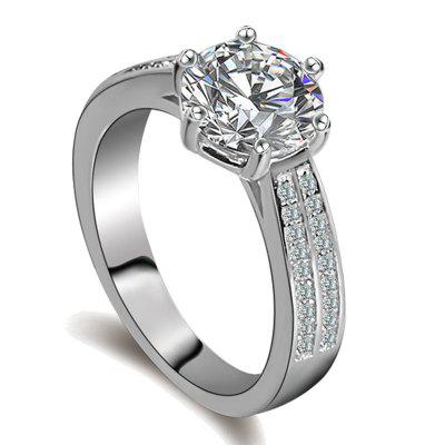 Female Wedding Ring with High Quality Zircon Rings