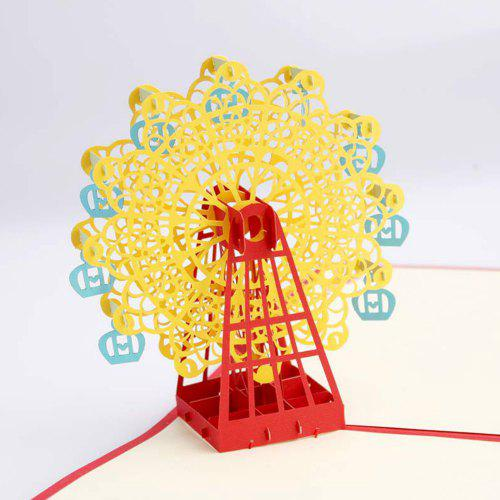 3 D Ferris Wheel Origami Paper Greeting Cards Birthday Gift