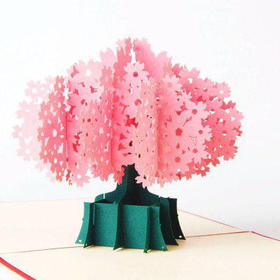 3D Cherry Blossoms Greeting Card Birthday Gift