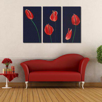 W125 Calla Lily Unframed Wall Canvas Prints for Home Decorations 3 PCS