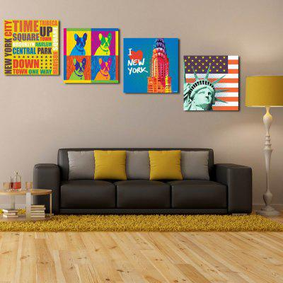 W134 Fashion Design Unframed Art Wall Canvas Prints for Home Decorations 4 PCS