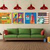 W134 Fashion Design Unframed Art Wall Canvas Prints for Home Decorations 4 PCS - MULTI-A