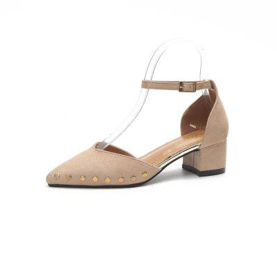 Nailed and Pointed Single Shoes