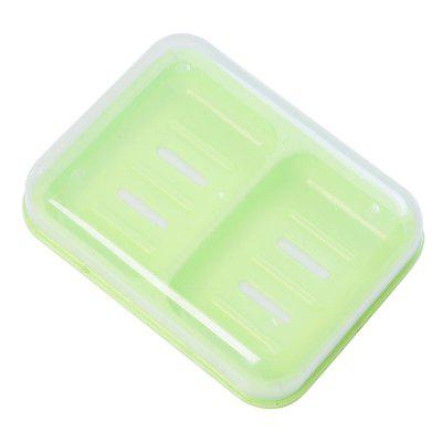 Candy Color Double Grid Lid Waterproof Soap Box Creative Drain Soap Holder