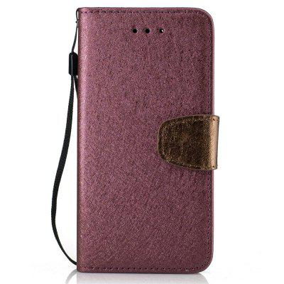 Stand Flip Full Body Cases Solid Color Pu+Tpu Leather for iPhone 7 / 8
