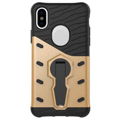 For iPhone X Case Armor 360 Degree Rotating Kickstand