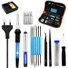 Electric Soldering Iron Welding Tool Kit Solder Wire Tweezers - MULTI-A