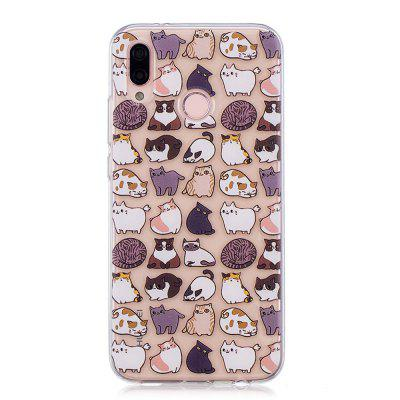 Etui TPU do Huawei P20 Lite / Nova 3E Cat Pattern
