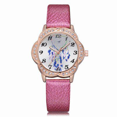 XR2568 Women Unique Fashion PU Leather Band Wrist Watch