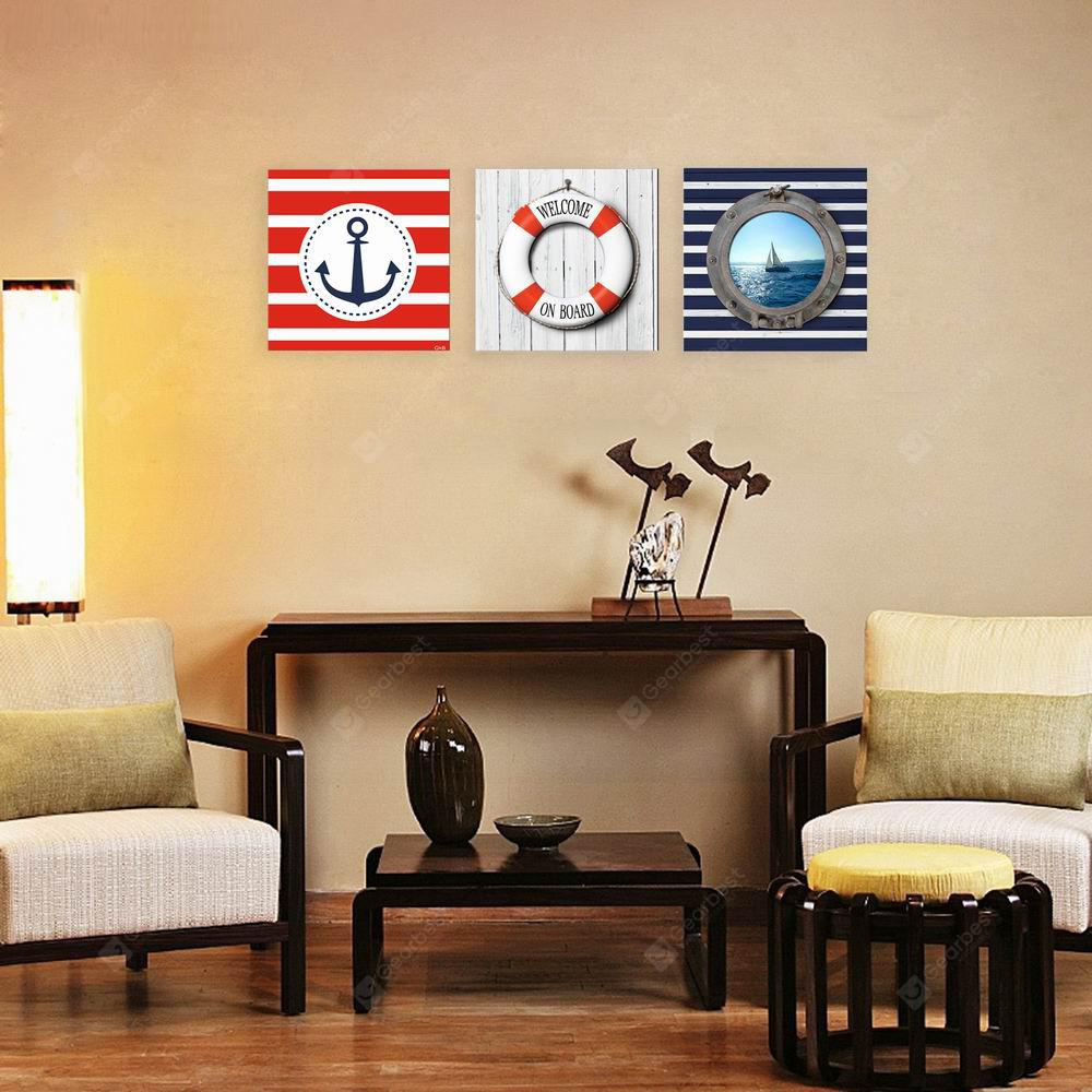 W135 Anchor Unframed Art Wall Canvas Prints for Home Decorations 3 PCS