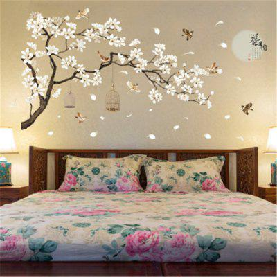 White Peach Butterfly  Wall Sticker for Home Decoration