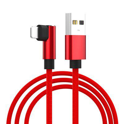 New Bend Aluminum Alloy Braided Cable for iPhone Mobile Phone