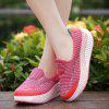 Breathable Mesh Thick Platform Increase Wedge Shake Shoes - RED