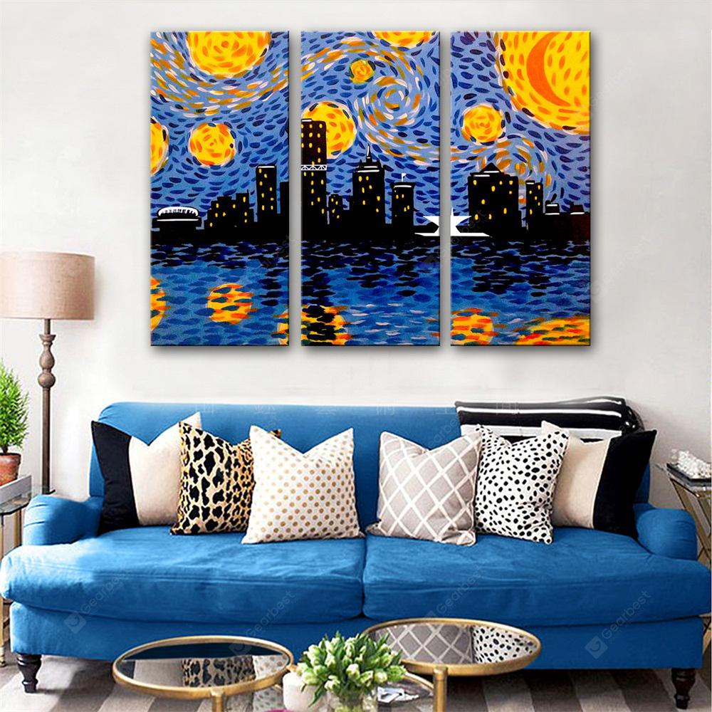 Special Design Frameless Paintings Bright Night Print 3PCS