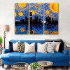 Special Design Frameless Paintings Bright Night Print 3PCS - MULTI