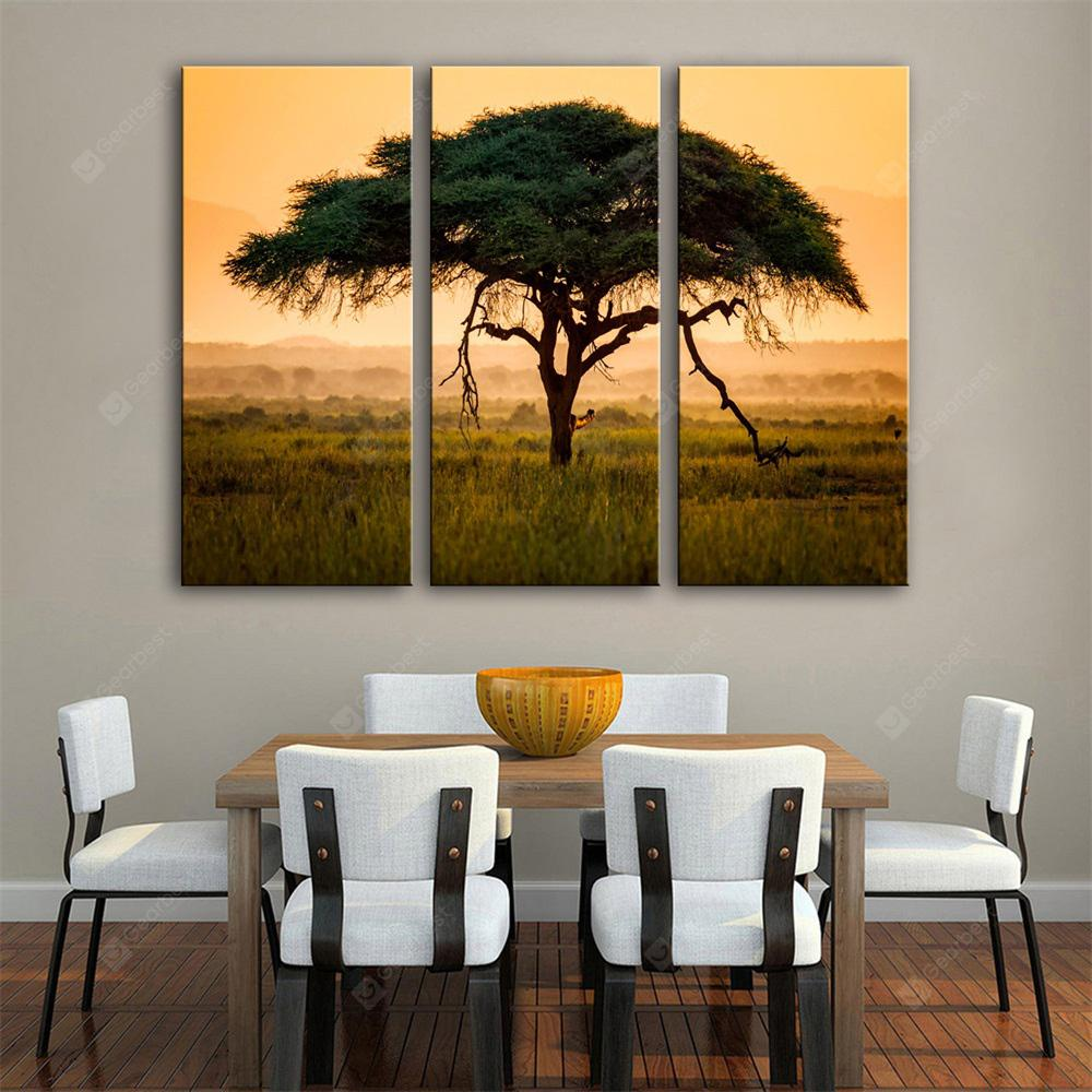 Special Design Frameless Paintings The Tree Print 3PCS