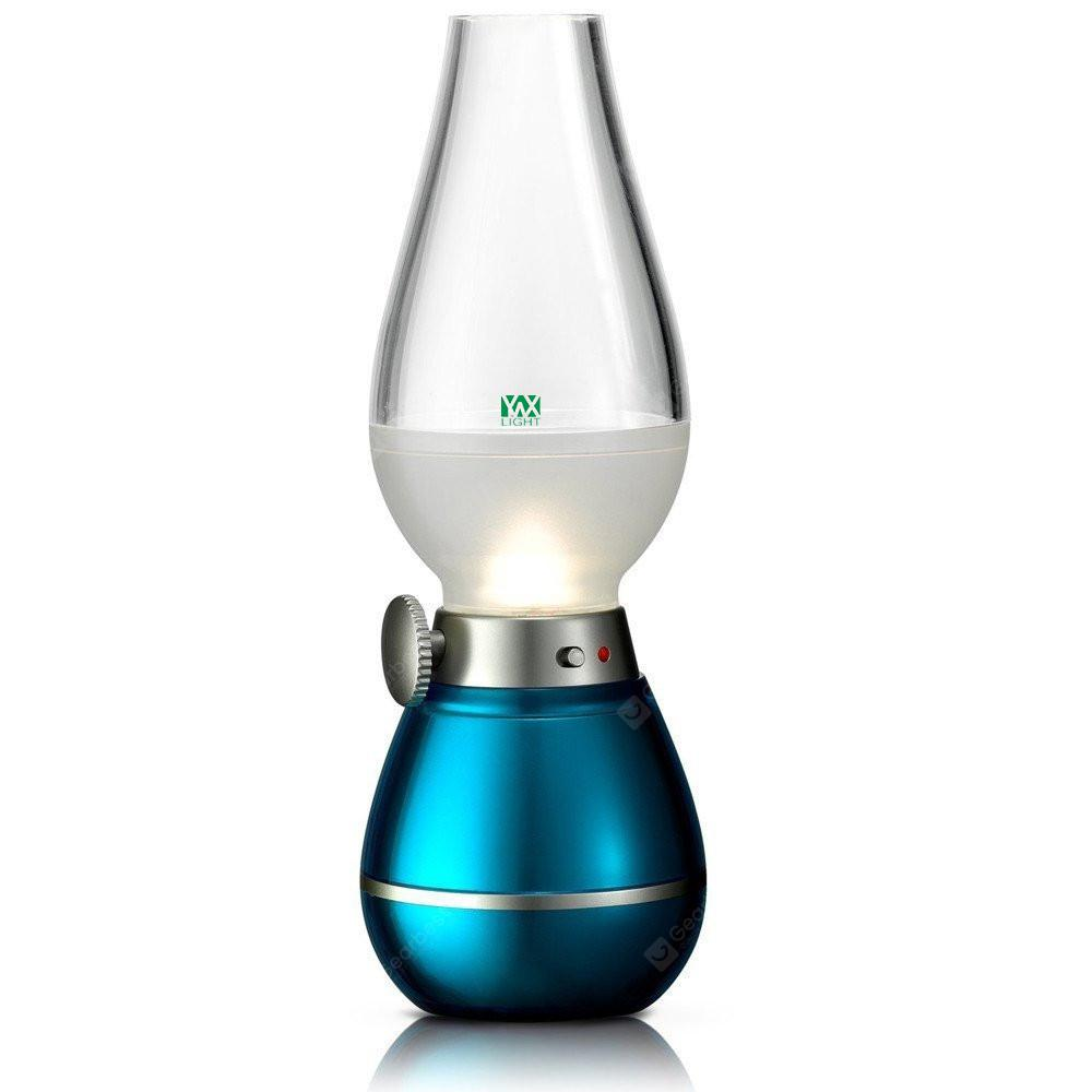 USB Rechargeable Dimming LED Kerosene Lamp Blowing Control