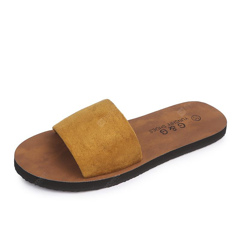 Fashion All-match Beach Word Slip  Slippers