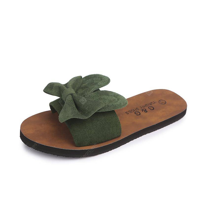 Fashion All-match Bow Beach Word  Slippers