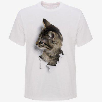 Men's Fashion Casual 3D Cat Short Sleeve T-shirt