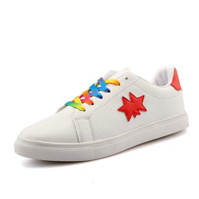 Women Star Breathable Sport Casual Comfortable Footwear Couple Sneakers