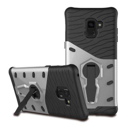 Armor 360 Stand Cover TPU + PC Schokbestendige hoes voor Samsung Galaxy A8 Plus 2018