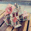 Creative 3D Wood Puzzle DIY Model French Style Farm Building Puzzle Toy - MULTI