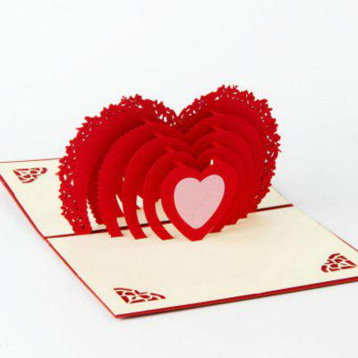 Heart moon 3d love romantic pop up greeting card laser cut 715 heart moon 3d love romantic pop up greeting card laser cut m4hsunfo