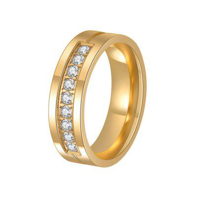 Women's Steel Couples Gold-Plated Rings 0119 Personalized Gifts Jewelry