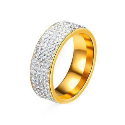 Women's Steel Couples Gold-Plated Rings 0120 Personalized Gifts Jewelry