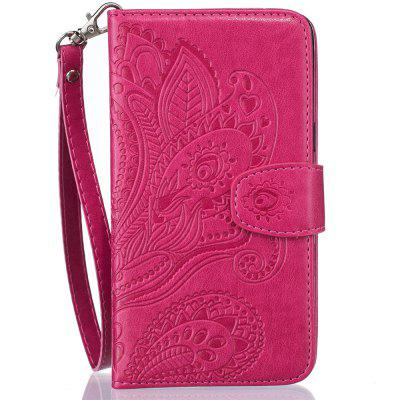 Wallet Flip Stand Case Embossed Plants PU Leather Cover Case for iPhone 6/6S