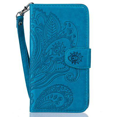 Wallet Flip Stand Case Embossed Plants PU Leather Cover for iPhone 7 Plus/8 Plus wuw for iphone 7 plus 5 5 view window flip leather phone case cover with stand black