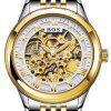 AngelaBos 9013G Automatic Mechanical Men Watch - WHITE
