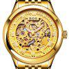 AngelaBos 9013G Automatic Mechanical Men Watch - GOLD