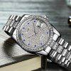 AngelaBos 9020G Automatic Mechanical Men Watch - SILVER