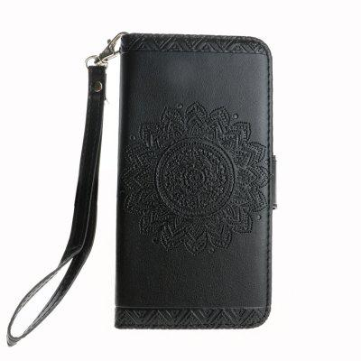 Luxo Retro Mandala Flip Leather Case para iPhone X