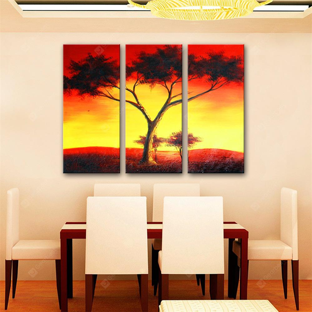Special Design Frameless Paintings Red Sky Print 3PCS