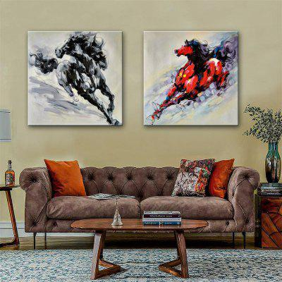 Special Design Frameless Paintings Handsome Horse Print 2PCS