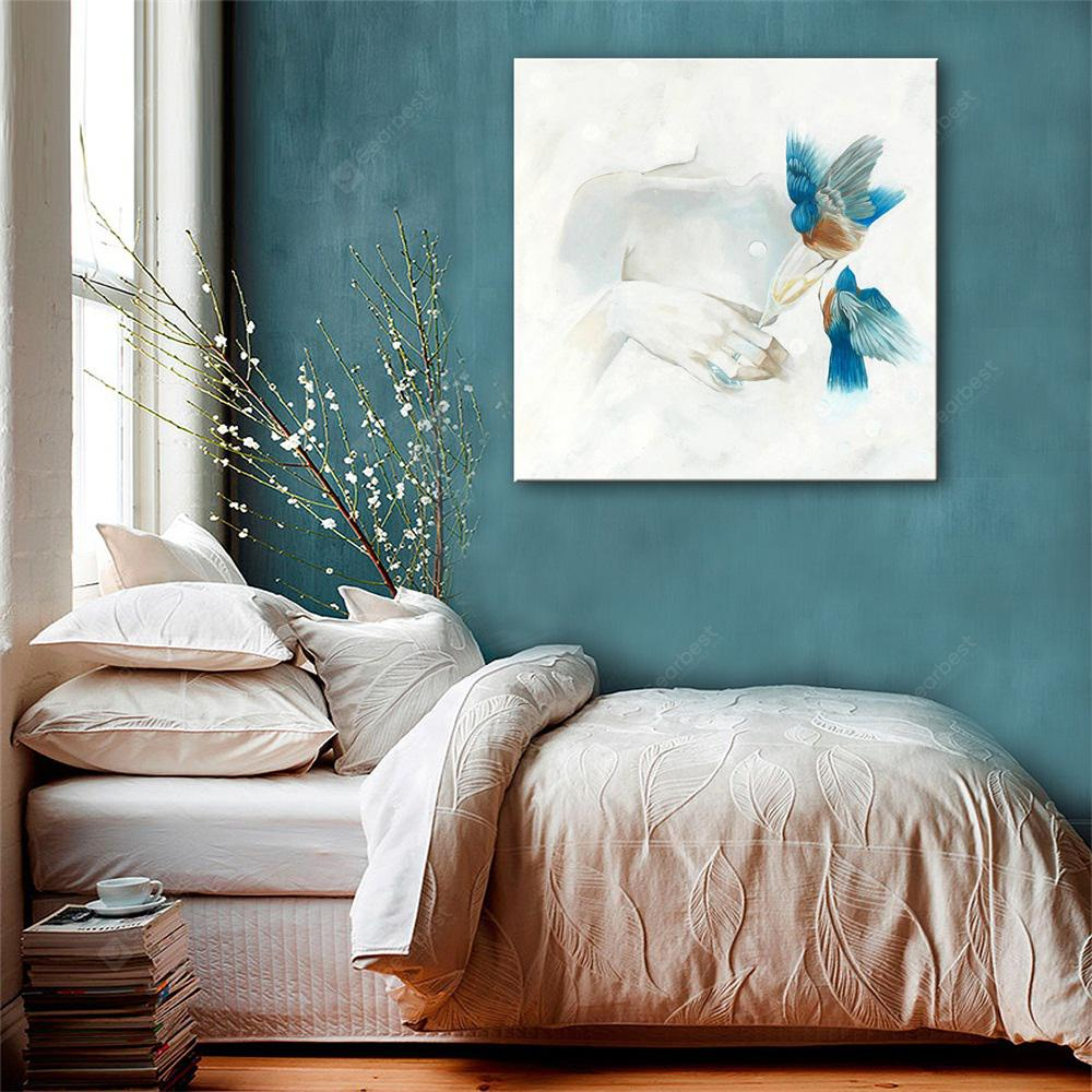 Special Design Frameless Paintings Blue Bird Print